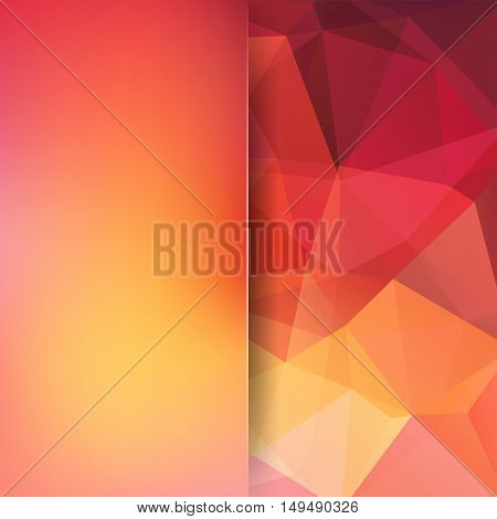Abstract Polygonal Vector Background. Orange Geometric Vector Illustration. Creative Design Template