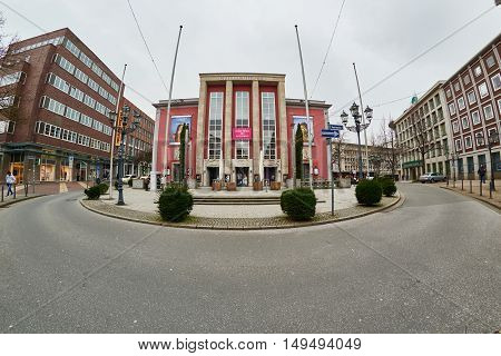 ESSEN, GERMANY - MARCH 07, 2016: The Grillo Theater is an important cultural spot.