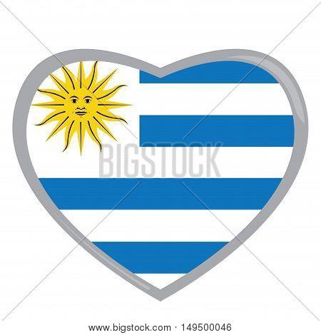 Isolated Uruguayan Flag