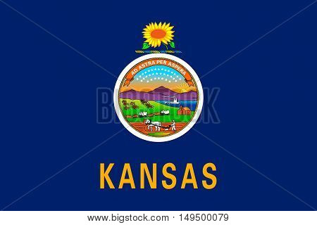 Flag of Kansas is a state in United States