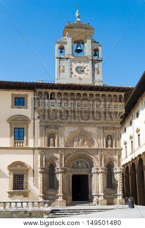 Santa Maria della Pieve Church in Piazza Grande Arezzo Italy