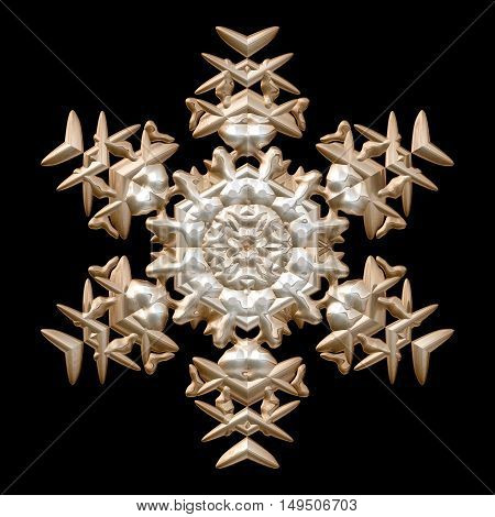 Bronze and silver mettalic winter snowflake image