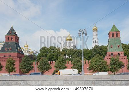 View of the Kremlin from the Moskva River by Kremlin embankment
