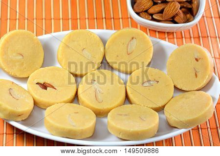 Milk Sweet or Peda is an Indian Sweet dish or dessert. poster