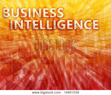 Business intellegence abstract, computer technology concept illustration