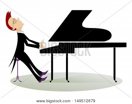 Pianist. Pianist is playing music with inspiration