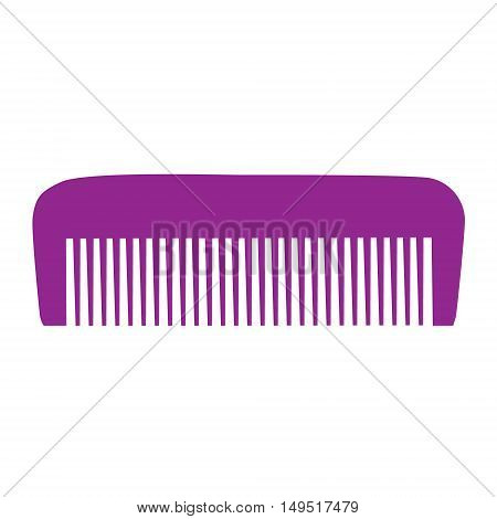 Comb , Barber Comb, Purple Plastic Comb Vector Illustration