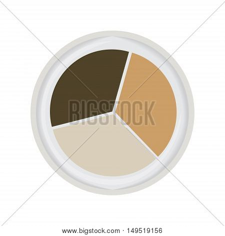 eye shadow trio brown isolated vector illustration