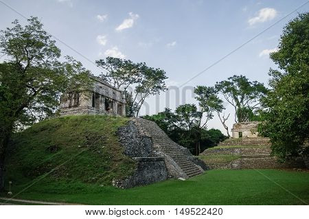 Mayan ruins in Palenque Chiapas in Mexico.