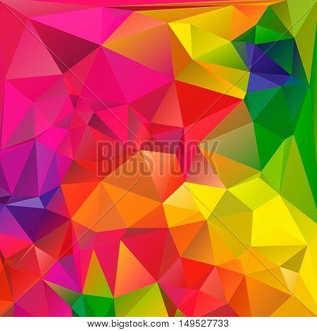 Colorful swirl rainbow polygon background. Colorful abstract vector. Abstract rainbow color Triangle Geometrical Background, Rainbow polygon swirl design. Rainbow Colorful swirl rainbow polygon.