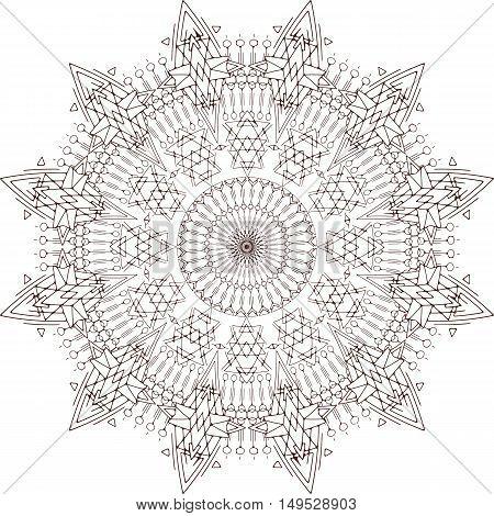 Vector Mehndi Tattoo Mandala. Imitating henna tatto. Transparent.