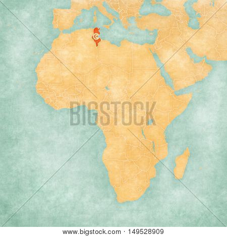 Map Of Africa - Tunisia