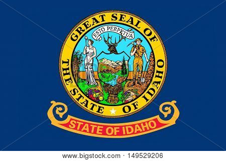 Flag of Idaho state in the northwestern region of the United States