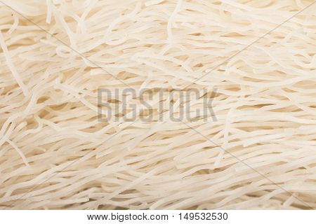 Chinese Noodles. Rice vermicelli Pasta. Close-up photo