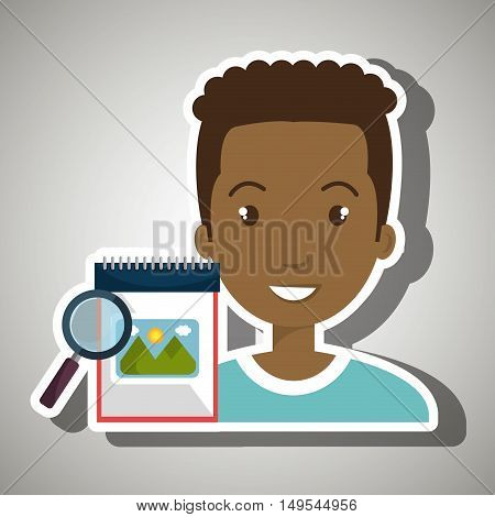 man images album search vector illustration esp 10