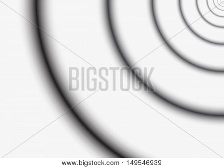 Background - Fibonacci circles - black and white monochrome grayscale - grooves concept - vector illustration