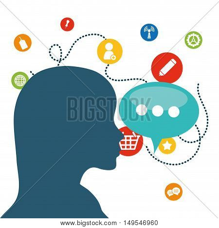 Social network person link icon information global message