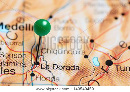 La Dorada pinned on a map of Colombia