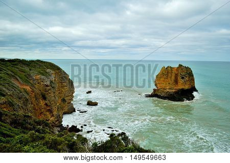 Eagle Rock at Aireys inlet, along the great ocean road in Victoria, Australia.