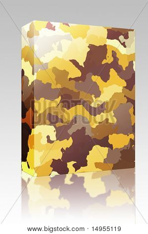 Software package box Camouflage pattern, graphic wallpaper texture design in various colors