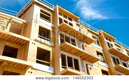 Apartment Condominium Complex, Wood Frame Construction, Victoria, Canada