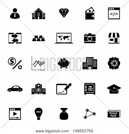 Passive income icons on white background stock vector