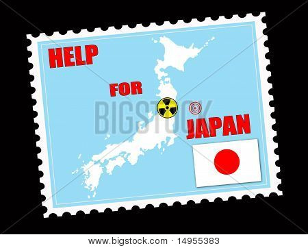 Help For Japan Stamp