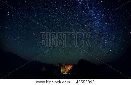 Starry Night With Milky Way