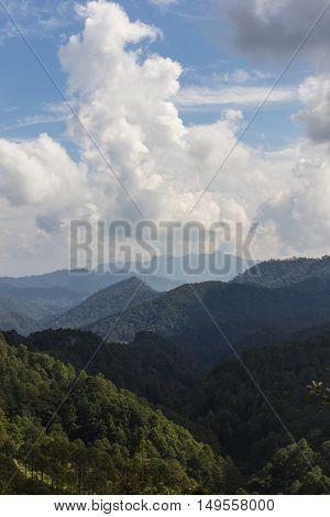 View doi luang chiangdoa from Loa Woo, Whianghaeng Chiangmai Thailand