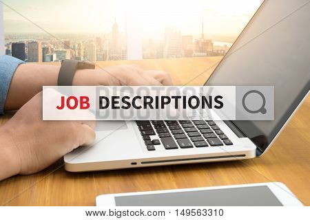 JOB DESCRIPTIONS SEARCH WEBSITE INTERNET SEARCHING  business man hard work