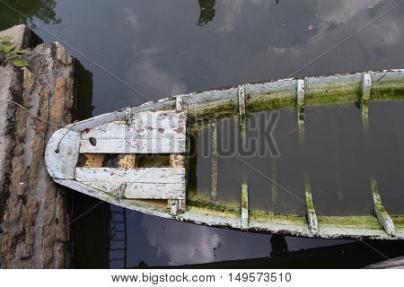 Traditional Asian Fishing Boat In River