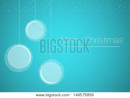 Christmas Illustration With Hanged Decoration