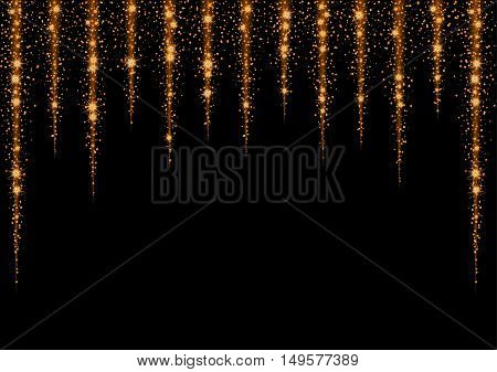 Glittering Stars And Trail Of Sparkling Particles