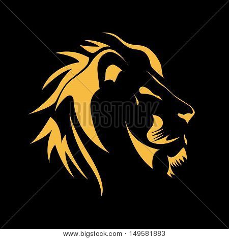 Vector sign Lion strength and courage concept