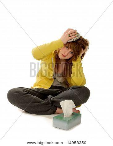 Sick Woman With Headache