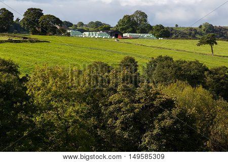 LONGNOR ENGLAND - SEPTEMBER 28: Farm outbuildings. In Longnor Staffordshire England. On 28th September 2016.