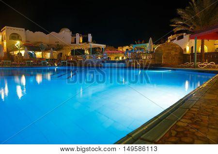 Water Pool At Night