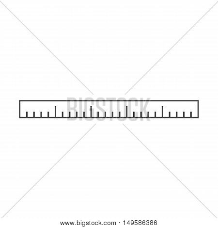 Ruler icon. Ruler Vector isolated on white background. Flat vector illustration in black. EPS 10