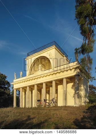 Lednice - Valtice Czech Republic - September 29 2011: Beautiful Apollo Temple in Lednice Valtice complex South Moravia