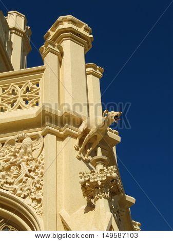 Lednice Czech Republic - September 29 2011: Statue at Lednice Chateau in South Moravia