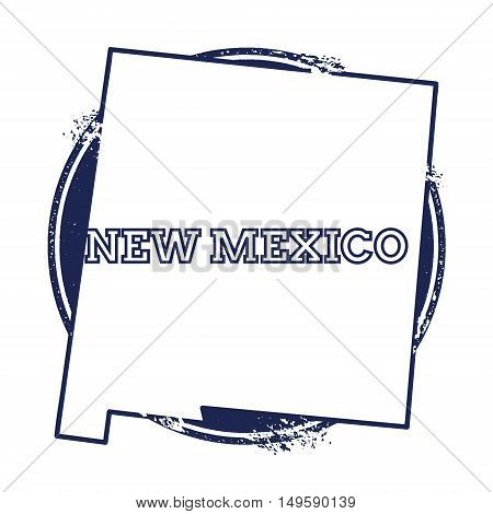 New Mexico Vector Map. Grunge Rubber Stamp With The Name And Map Of New Mexico, Vector Illustration.