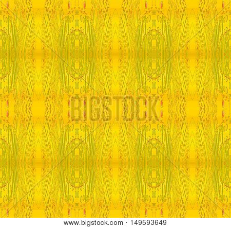 Abstract geometric seamless background. Regular ellipses pattern yellow and light green, delicate and dreamy.