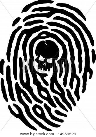 Thumbprint Skull
