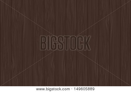 Dark wooden background. Mahogany color. Vector illustration