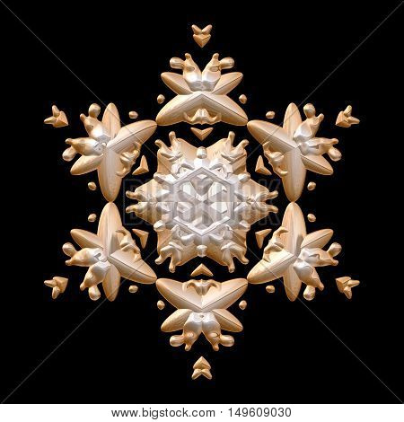 Snowflake winter icon 3d graphic digitally image
