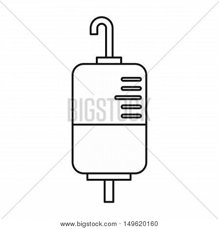 Drop counter icon in outline style on a white background vector illustration