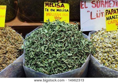 Melisa Tea In Egyptian Spice Bazaar