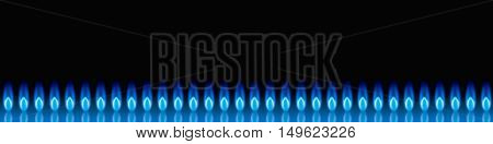 The flame of natural gas, design of the site.