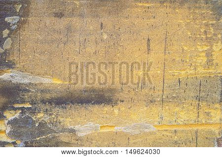 Old grunge obsolete wall background texture image.
