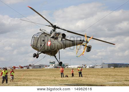 The Military Helicopter At Competitions